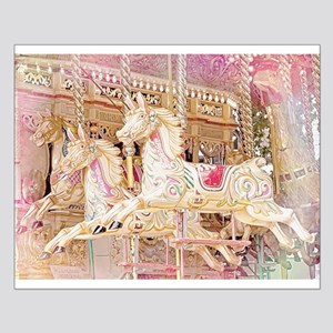 Merry-Go-Round Pink Small Poster