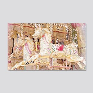 Merry-go-round pink Decal Wall Sticker