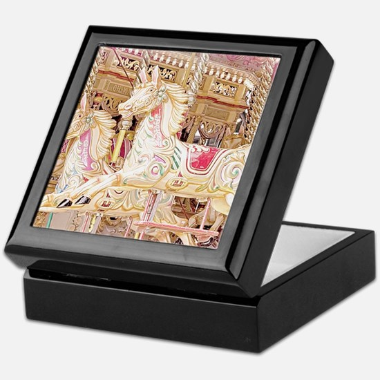 Merry-go-round pink Keepsake Box