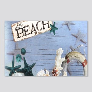 beach coral sea shells Postcards (Package of 8)