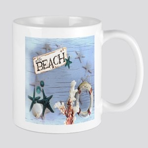 beach coral sea shells Mugs