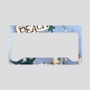 beach coral sea shells License Plate Holder