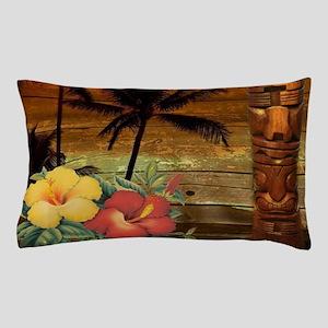 totem Hawaiian Hibiscus Flower Pillow Case