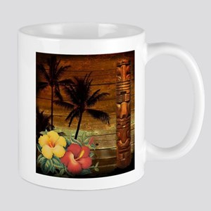 totem Hawaiian Hibiscus Flower Mugs