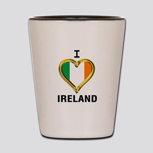 I HEART IRELAND Shot Glass