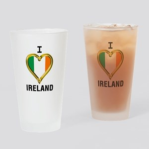 I HEART IRELAND Drinking Glass