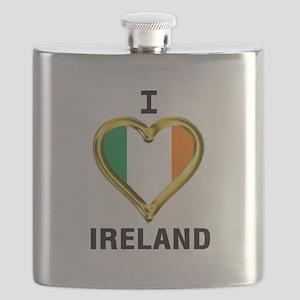I HEART IRELAND Flask