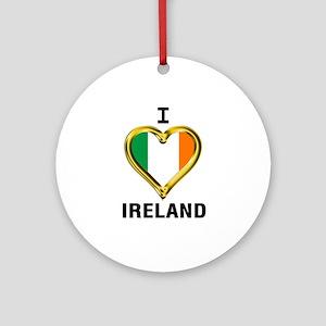 I HEART IRELAND Round Ornament