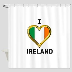 I HEART IRELAND Shower Curtain