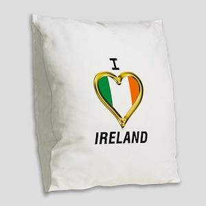 I HEART IRELAND Burlap Throw Pillow