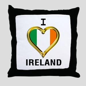 I HEART IRELAND Throw Pillow