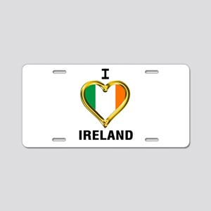 I HEART IRELAND Aluminum License Plate