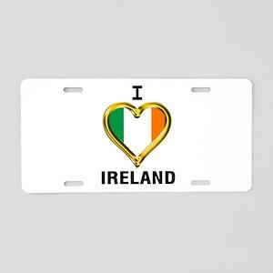 I HEART IRELAND Aluminum License Plate
