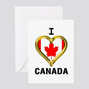 I HEART CANADA Greeting Cards