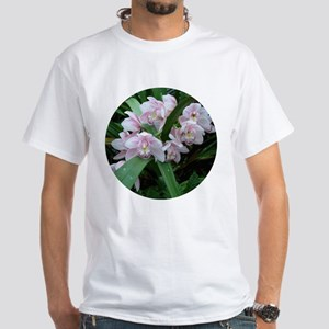 Pink Orchid White T-Shirt