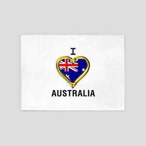 I HEART AUSTRALIA 5'x7'Area Rug