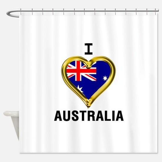 I HEART AUSTRALIA Shower Curtain