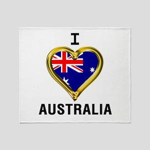I HEART AUSTRALIA Throw Blanket