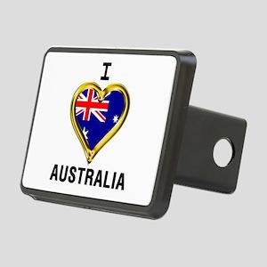 I HEART AUSTRALIA Rectangular Hitch Cover