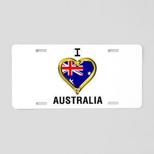 I HEART AUSTRALIA Aluminum License Plate