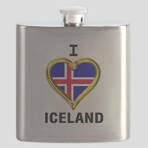 I HEART ICELAND Flask