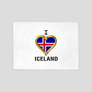 I HEART ICELAND 5'x7'Area Rug