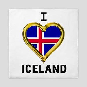 I HEART ICELAND Queen Duvet