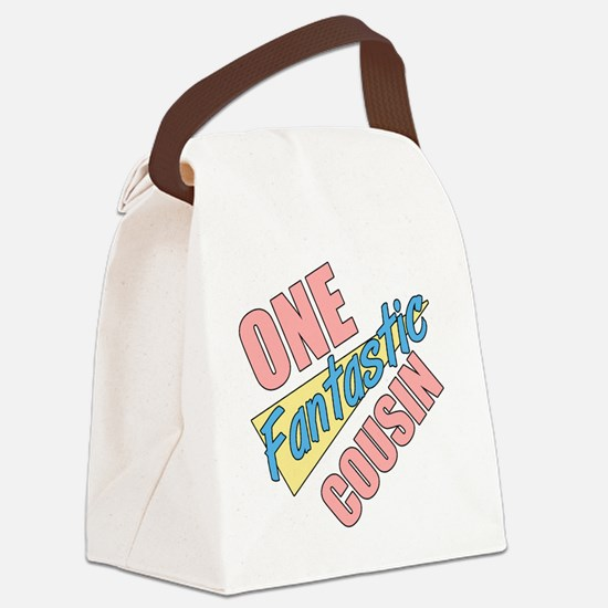 One Fantastic Cousin Canvas Lunch Bag