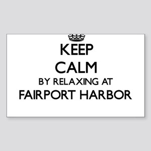 Keep calm by relaxing at Fairport Harbor O Sticker