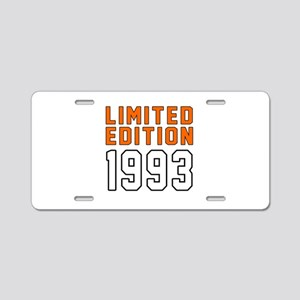 Limited Edition 1993 Aluminum License Plate