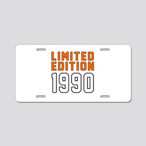 Limited Edition 1990 Aluminum License Plate