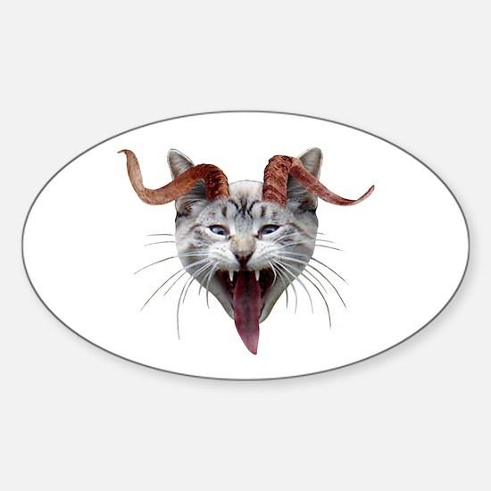 Krampus Cat Sticker (Oval)
