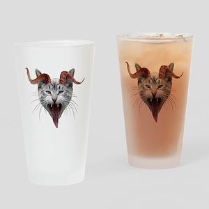 Krampus Cat Drinking Glass