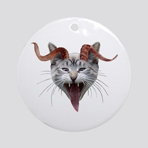 Krampus Cat Round Ornament