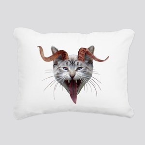 Krampus Cat Rectangular Canvas Pillow