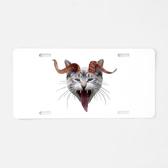 Krampus Cat Aluminum License Plate