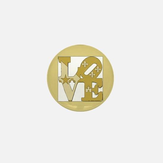 LOVE GOLD FRAMED Mini Button