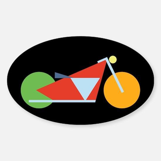 Modern Geometric Motorcycle Sticker (Oval)