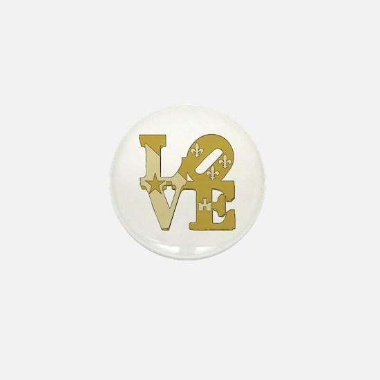 love gold Mini Button