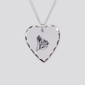 Girls Necklace Heart Charm