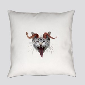 Krampus Cat Everyday Pillow