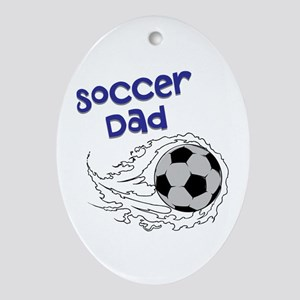 Soccer Dad Oval Ornament