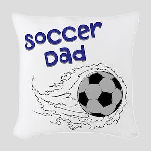 Soccer Dad Woven Throw Pillow