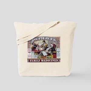 Dr. Pierce's Family Medicines Tote Bag