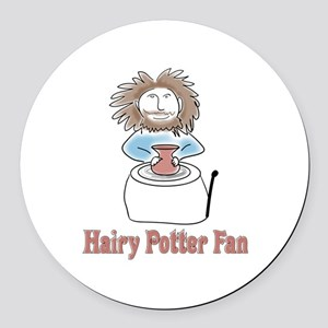 hairypottercolor Round Car Magnet