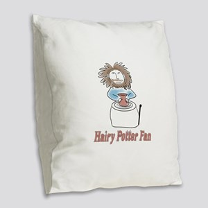 hairypottercolor Burlap Throw Pillow