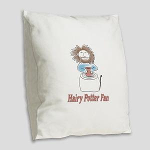hairypottercolor Burlap Throw Pillow
