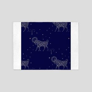 stars aries 5'x7'Area Rug
