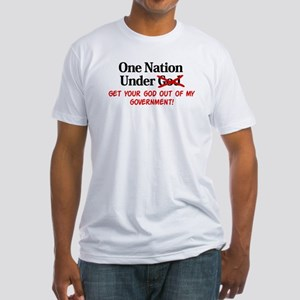 Separation of Church and Stat Fitted T-Shirt