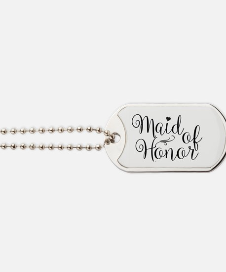 Maid of Honor Dog Tags